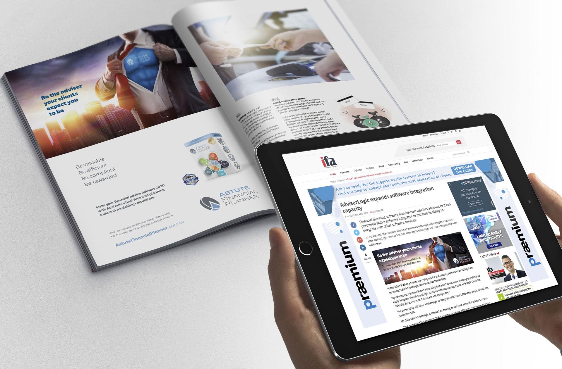 Print Advertising and Digital Advertising Camapaign