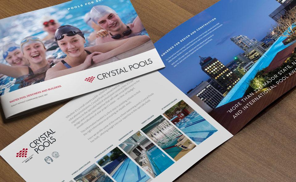 Brochure Marketing Commercial Pools Construction