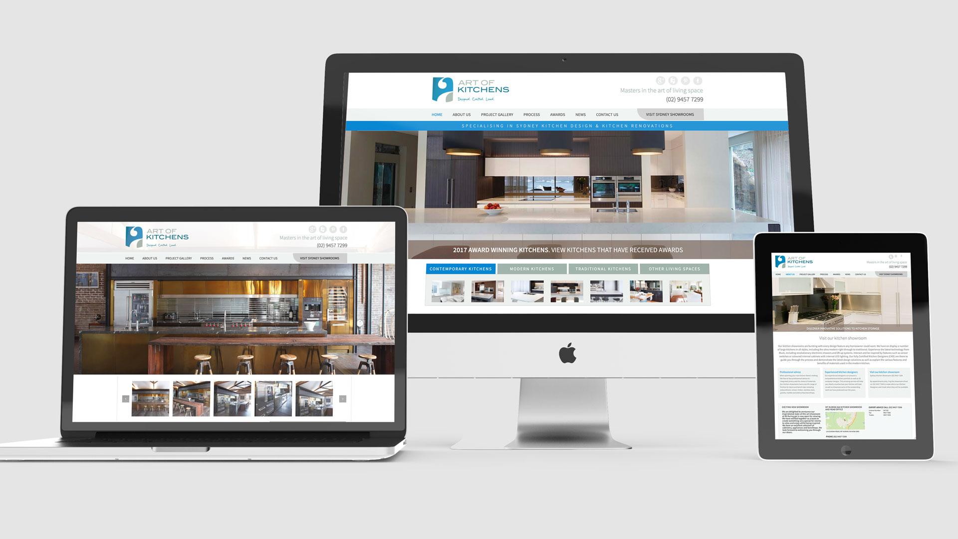 Digital Marketing, Website Art Direction Kitchen Designer and Manufacturer